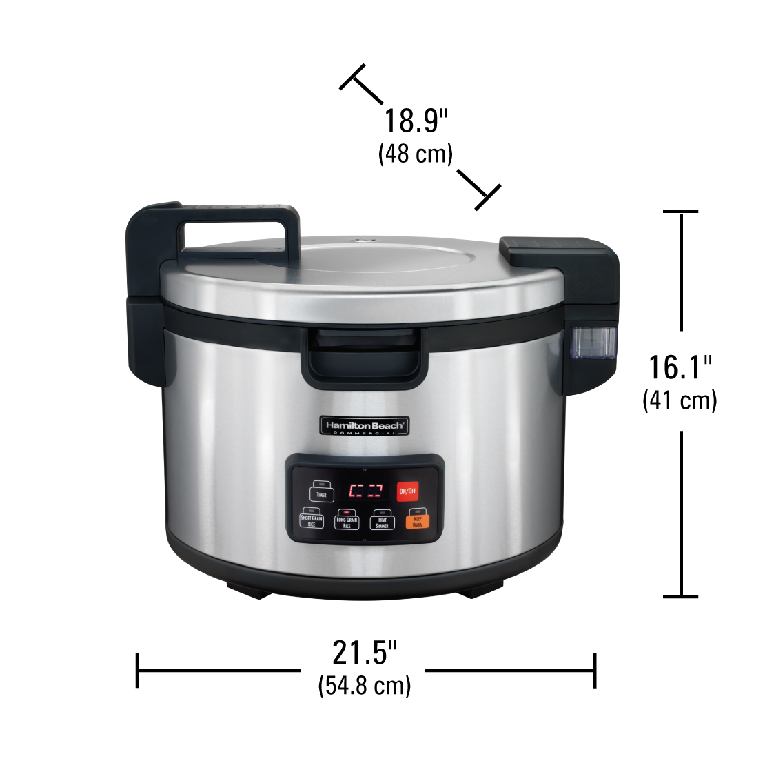 Commercial 90 Cup Cooked Rice Cooker/Warmer 37590 | Hamilton Beach  Commercial